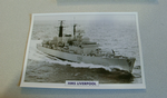 1980 HMS Liverpool Destroyer  warship framed picture